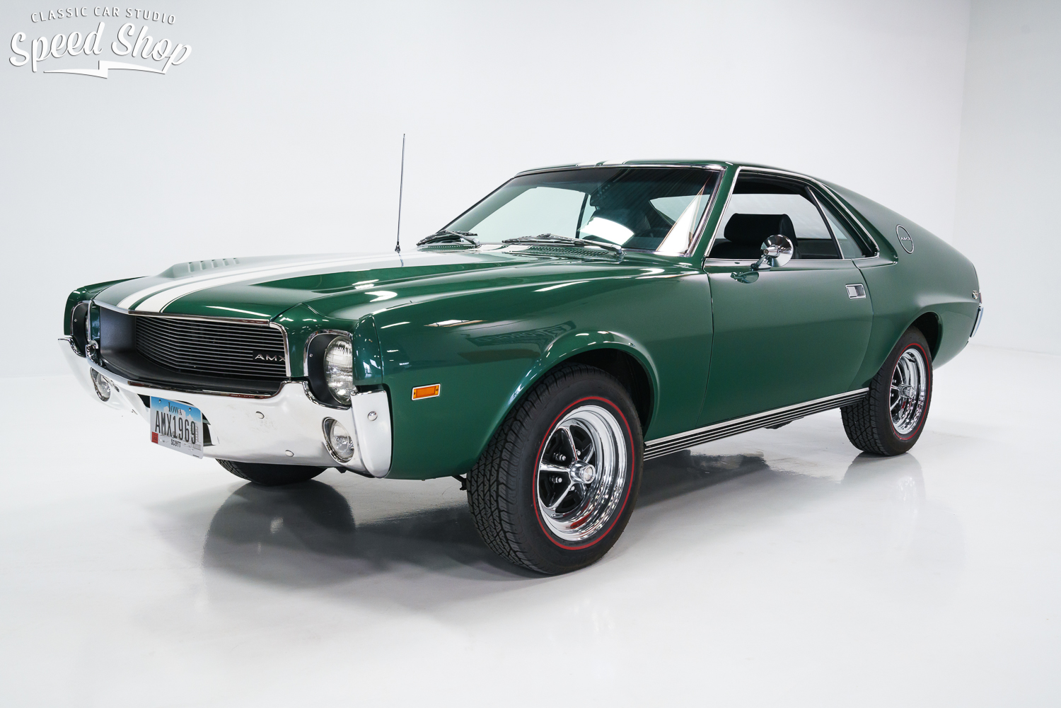 1969 Amc Amx 390 Restoration on 1966 chevy truck green