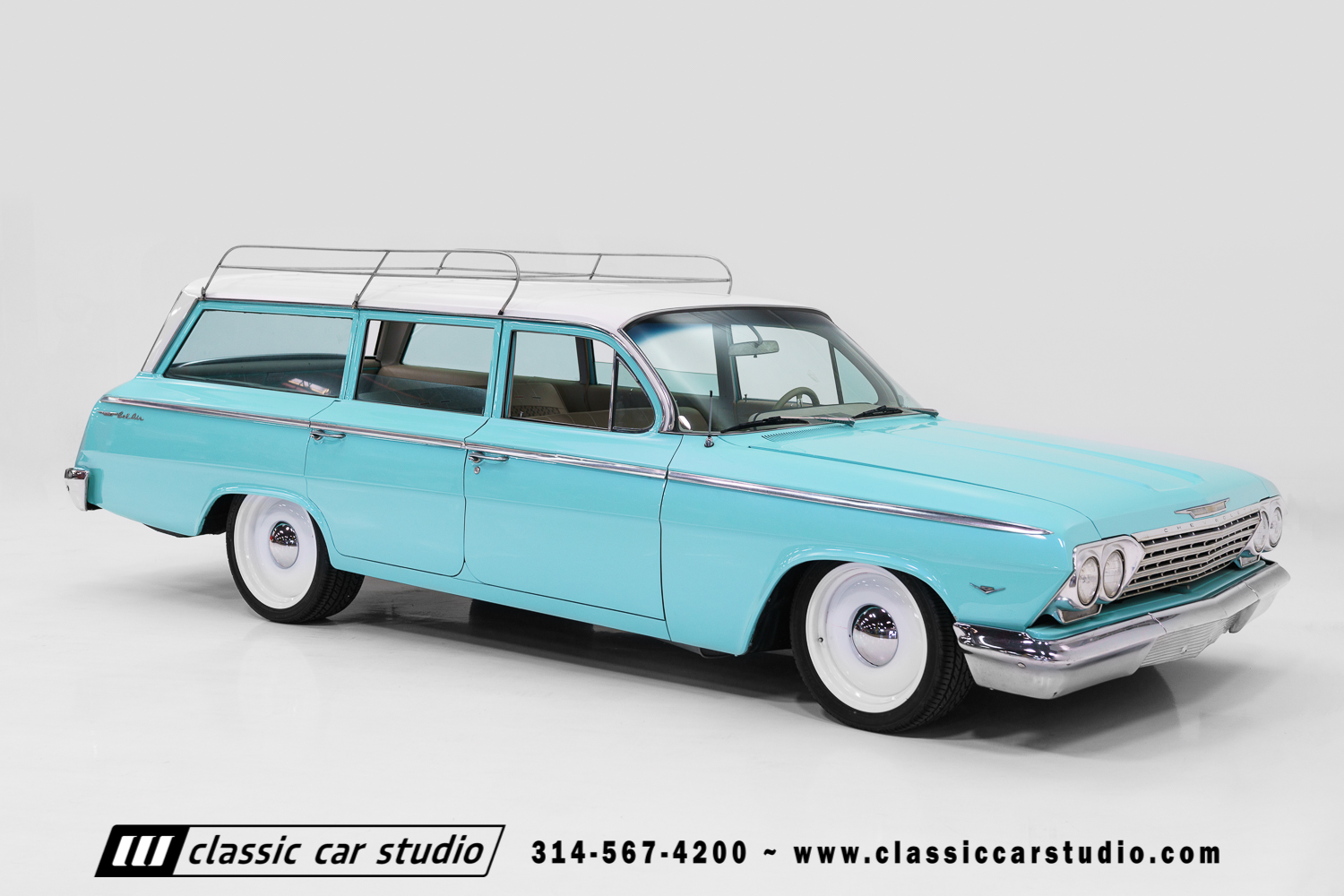 1962 Chevrolet Bel Air Wagon Classic Car Studio 1966 Chevy For Sale 62 15